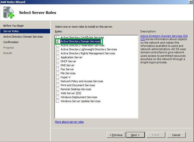 Installing a new windows server 2008 domain controller in for Installing new windows