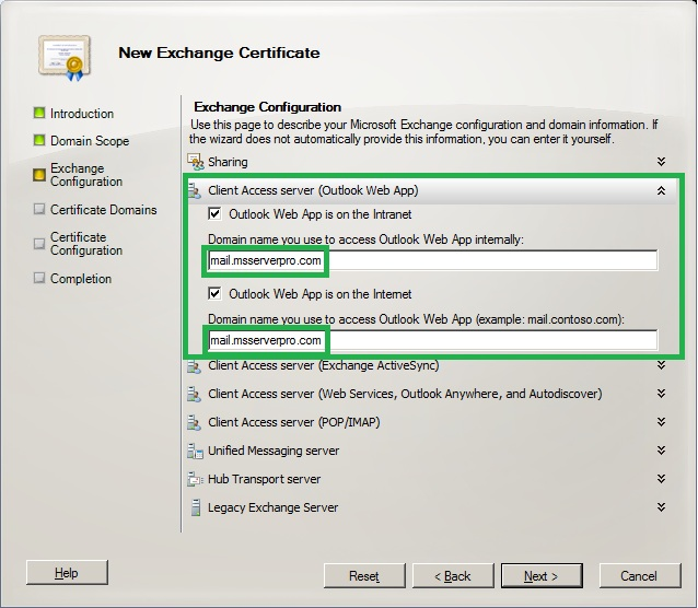 Configuring certificates in exchange server 2010 ms server pro expand client access server exchange activesync and then verify that exchange active sync is enabled check box is selected and verify yadclub Gallery