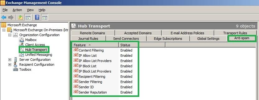 Anti Spam Exchange Server