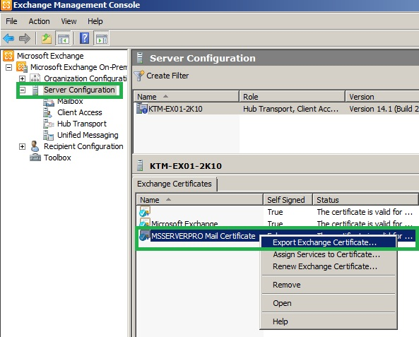 Publishing outlook web access owa with forefront tmg 2010 ms server pro - Exchange management console ...