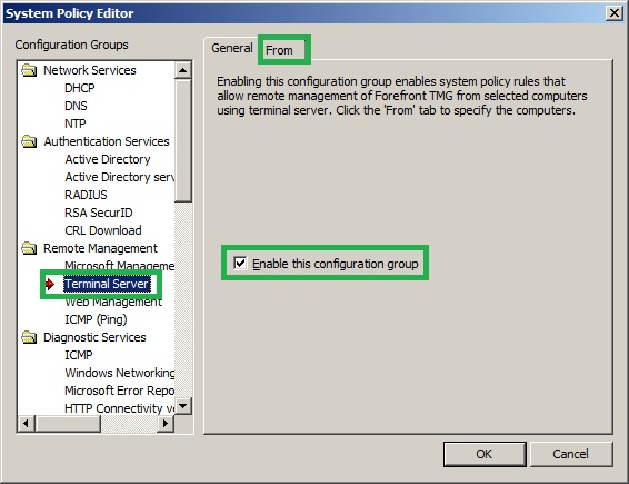 Administering Forefront TMG 2010 Server Remotely Using RDP
