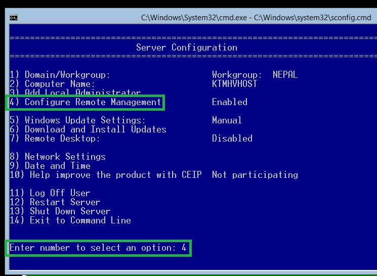 Installing and Configuring Microsoft Hyper-V Server 2012 for
