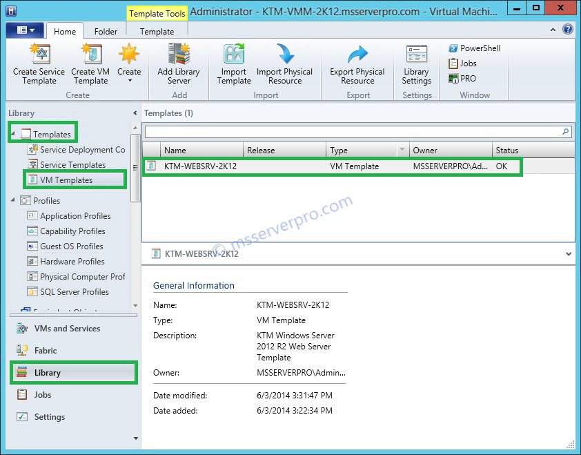 Creating a Virtual Machine Template From an Existing VM in System ...