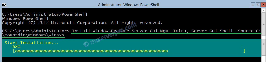Converting from a Server Core to Server with a GUI in