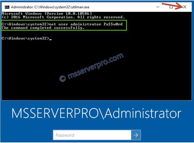 change admin password command prompt windows 10