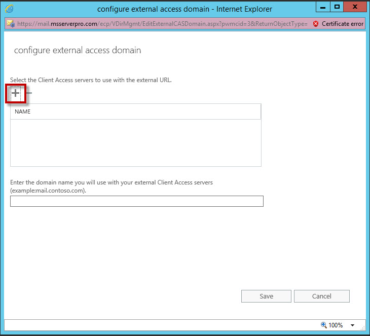 Configuring and Managing Client Access Internal and External