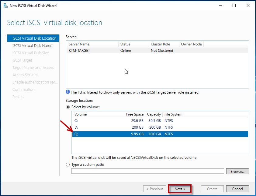 Configuring iSCSI Storage and Initiator in Windows Server