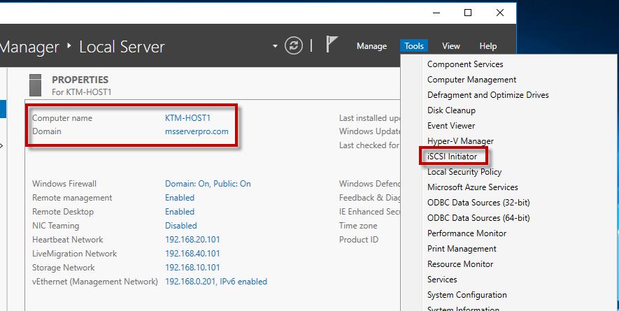 Configuring iSCSI Storage and Initiator in Windows Server 2016 – MS